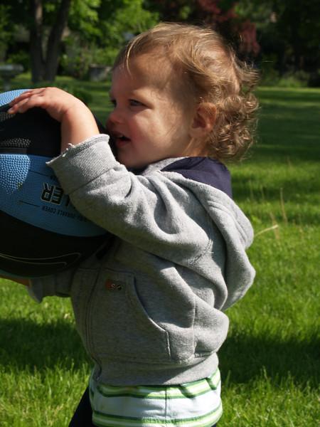 Gabriel in our backyard ('07)
