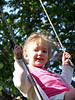 Abi swinging at Yoders'