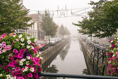 A misty morning in town of Sneek