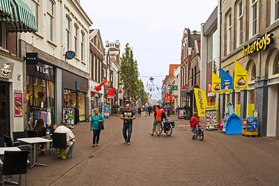 Oosterdijk - a street in Sneek with many shops