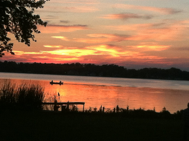 One of the many beautiful summer sunsets on Cranberry pond.