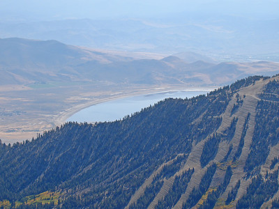 Mt Rose ski area and Washoe Lake