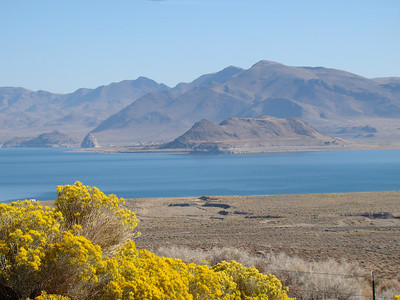 A visit to Pyramid Lake while visiting sister Ellie in Reno.