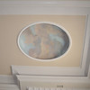 Coffered ceiling painting.