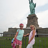 Maddy and Gracie on Liberty Island