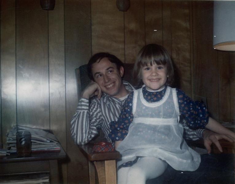 Christine with Daddy Jim<br /> 1970