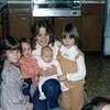Lisa, Jamie, Chris holding Vanessa, Jennifer<br /> Christmas 1979