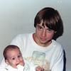 Uncle Jim holding Jamie<br /> Oshkosh, Wisconsin<br /> 1977
