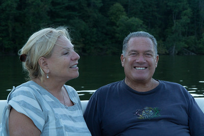 Out on the lake: Alexis and Lee.