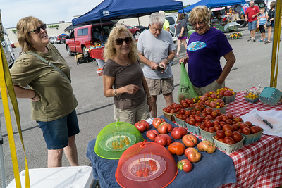 Yes,  we have some tomatoes! At Carrollton's Farmers Market.