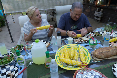 Dinner on the deck.