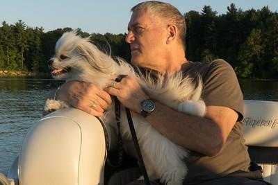 Biggie and me on Atwood Lake.