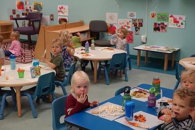 Elliot's class at snack time