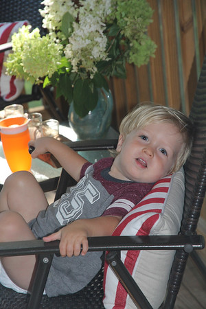 just having an evening drink on Nana's porch
