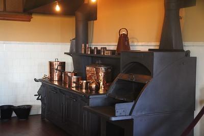 stove in main kitchen