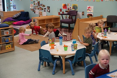 Ellliot's class at snack time