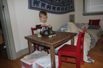 table & chairs we gave Elliot for Christmas