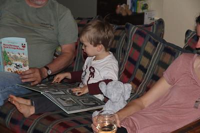 Elliot reads to Granddad
