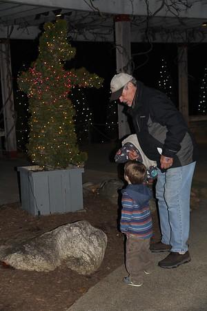 looking at a bear with Granddad