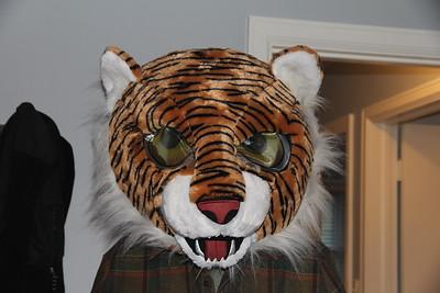 Granddad as Daniel Tiger for Halloween