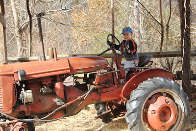 old tractor at the Nature Center