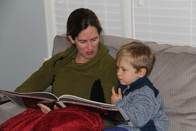 Mommy reads The Polar Express