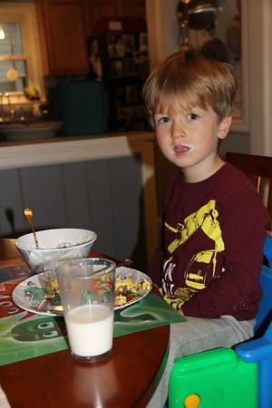 breakfast at Nana & Granddad's