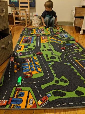 Matchbook cars carpet