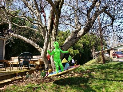 Green Man on his swing