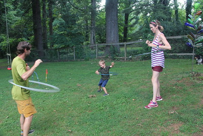family hula hooping