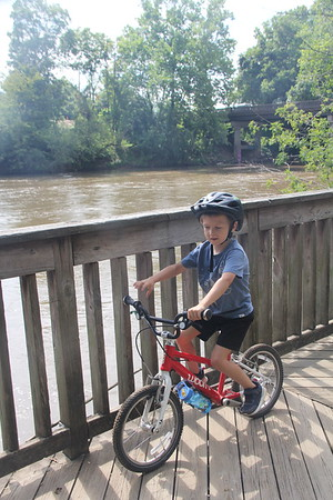 biking along the French Broad River  8/2020