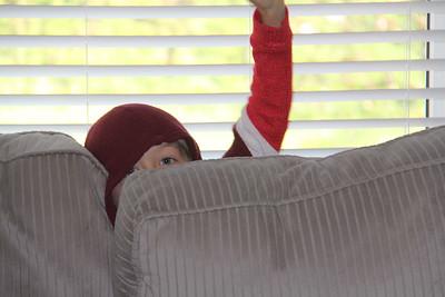 Elliot still enjoys hiding