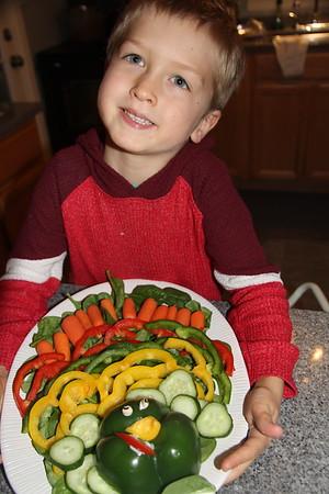 proud of his turkey appetizer