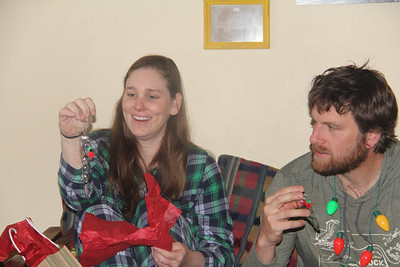 Kim & Jeff admiring the decorations Elliot made for them