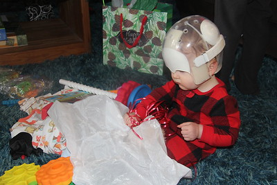 Arlo enjoyed the wrappings