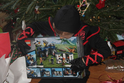 think he got 4 Lego sets