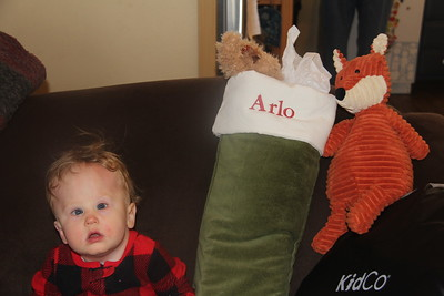 Arlo and his Christmas stocking