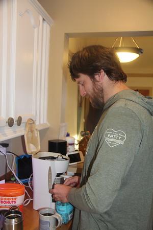 Jeff makes coffee
