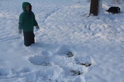 pretty good snow angel
