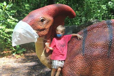 Dinosaurs wear masks too!