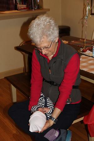 Grandmother Mary and baby Arlo