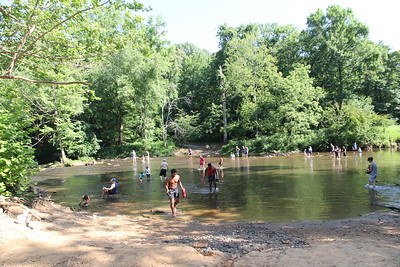 Few's Ford access on the Eno River - one of the few places to take kids during the Covid 19 outbreak - this is when we left, it was getting so crowded 7/2020