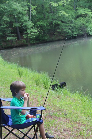 fishing (and eating) at the Piney Mountain Pond