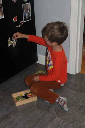 Elliot does the frog puzzle each visit