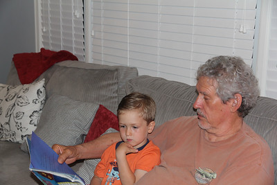 Granddad reads before bed