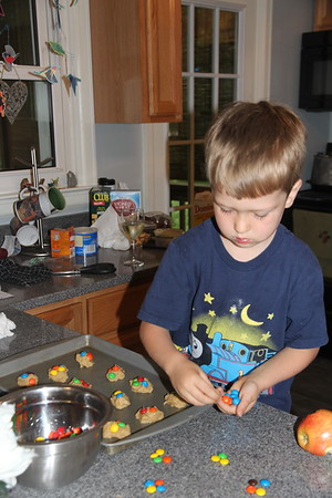 sorting before placing them on the cookies