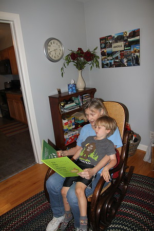 Never too big to sit in Nana's lap for a story