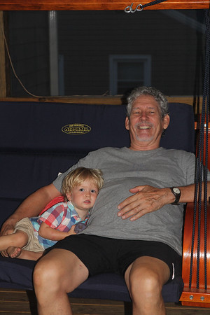Elliot in the MerleFest swing with Granddad