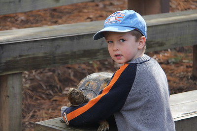 Elliot wanted his pix with the turtle