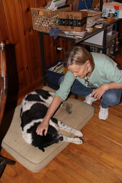 Melanie with Bessie